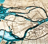 Деревянная рельефная карта Санкт-Петербурга 50x55 WOODENMAP ART 2122