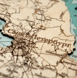 Деревянная рельефная карта Ленинградской области 60x60 WOODENMAP ART 2123