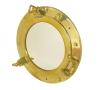 Зеркало-иллюминатор круглое с барашковыми задрайками ART 4097 Brass porthole mirror