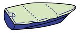 Тент для лодки ART 4266 Boat cover for open boats