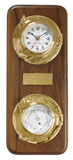 Декоративные часы с барометром на деревянной основе ART 6237 Clock & barometer