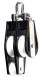 Двухшкивно-виолиновый такелажный блок с мочкой PEM ART 7326 Fiddle duble block with shackle