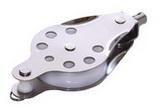 Нержавеющий вертлюжный одношкивный такелажный блок 60mm с вилкой PEM ART 7416 Single steel block with becket