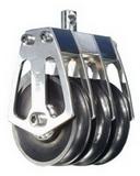 Трехшкивный нержавеющий вертлюжный такелажный блок 60-70mm, на подшипниках PEM ART 7531 Triple steel block with ball bearing shaves