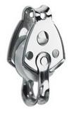 Одношкивный нержавеющий блочок 30мм с вилкой PEM ART 7612 Single steel block with becket