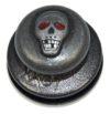 Tenax кнопка с черепом ART 8343 Tenax BLACK SKULL upper part/ top with large, smooth head/ringed head/washer screwed on
