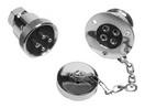 Водонепроницаемый электрический разъем-розетка с заглушкой ART 8727 Deck connector, brass crome plated, water resistant