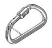 Карабин с пружинной муфтой и перемычкой ART 8956 Spring hook with nut - self-locking sleeve